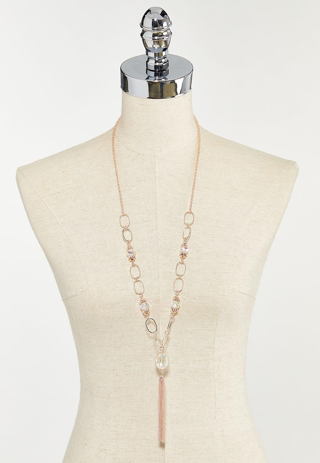 Rose Gold Tassel Necklace (Item #44502003)