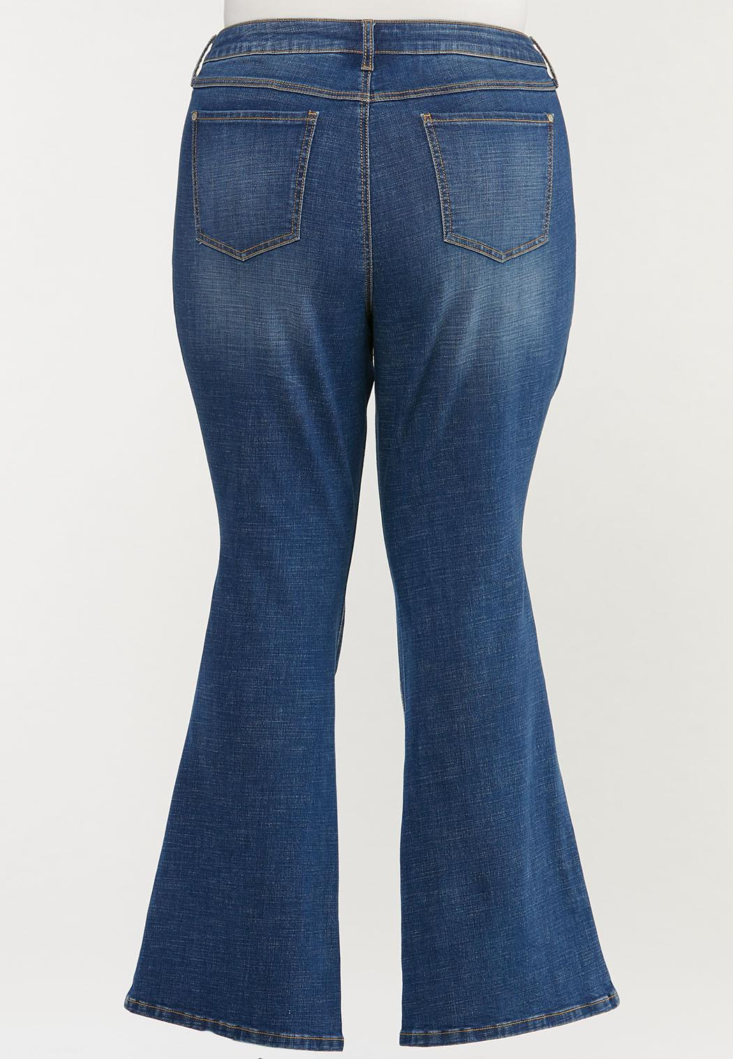 Plus Size Flare Jeans (Item #44502122)
