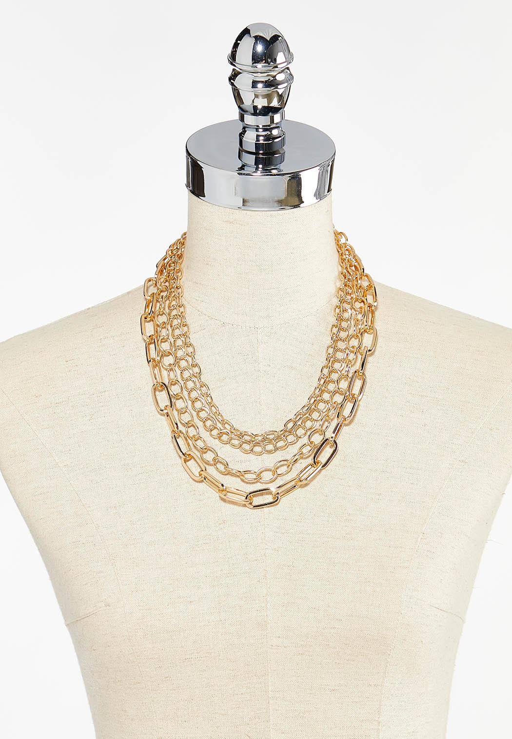 Layered Chain Necklace (Item #44502254)