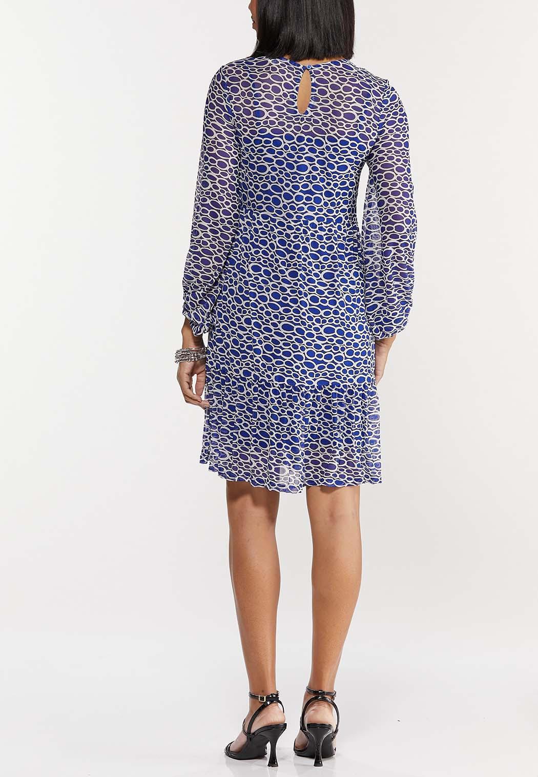 Blue Mesh Geo Dress (Item #44502465)
