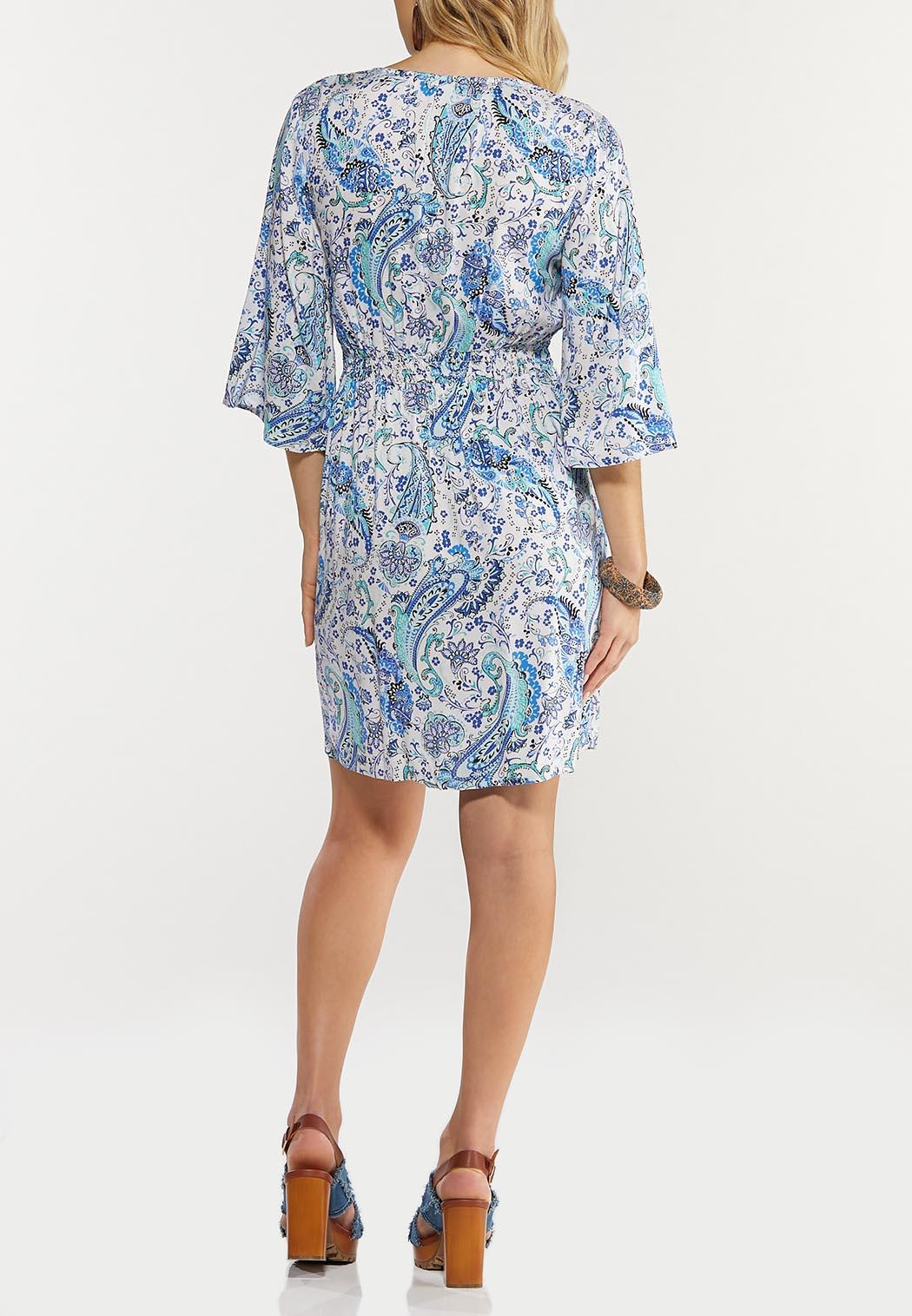 Plus Size Blue Paisley Dress (Item #44502821)