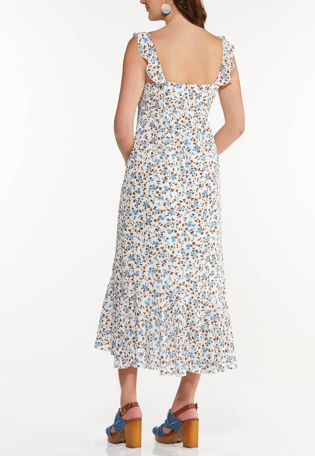 Ruffle Floral High-Low Dress (Item #44502840)