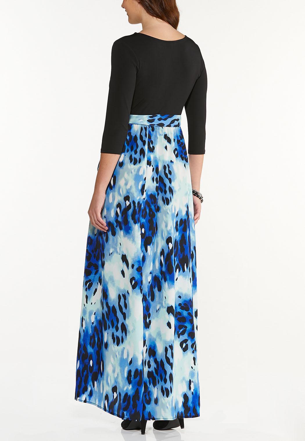 Plus Petite Sky To Sea Maxi Dress (Item #44503038)