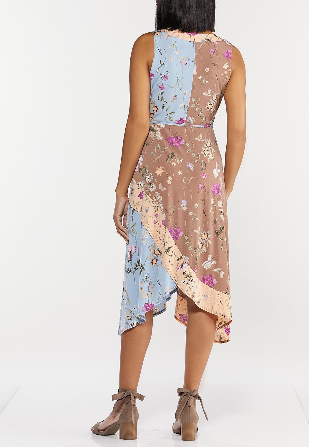 Plus Size Spring Bloom Faux Wrap Dress (Item #44503495)