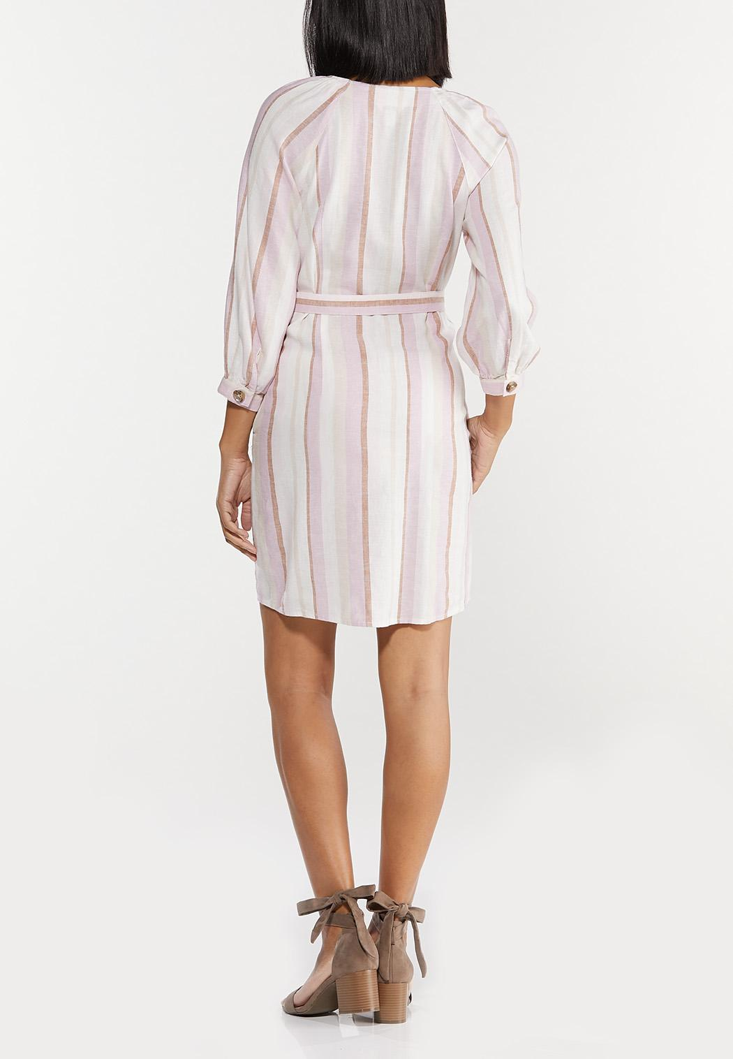 Striped Linen Shirt Dress (Item #44503613)
