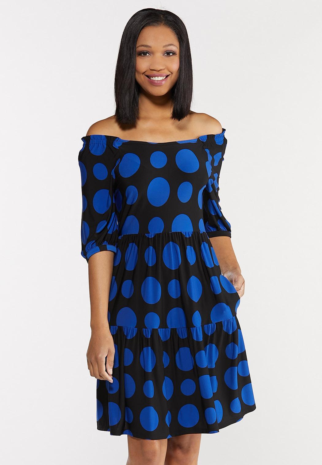 Polka Dot Puff Sleeve Dress (Item #44503681)