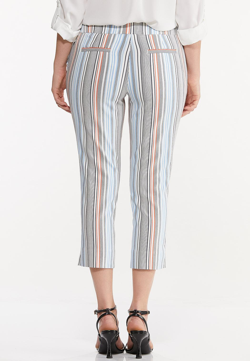Cropped Striped Pants (Item #44503814)