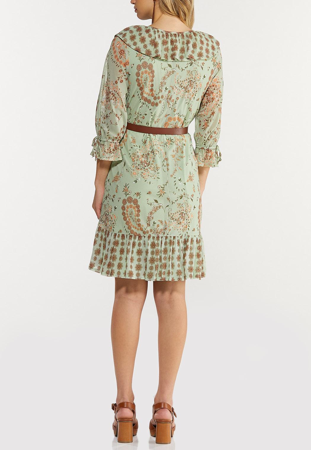 Plus Size Floral Mesh Dress (Item #44503815)