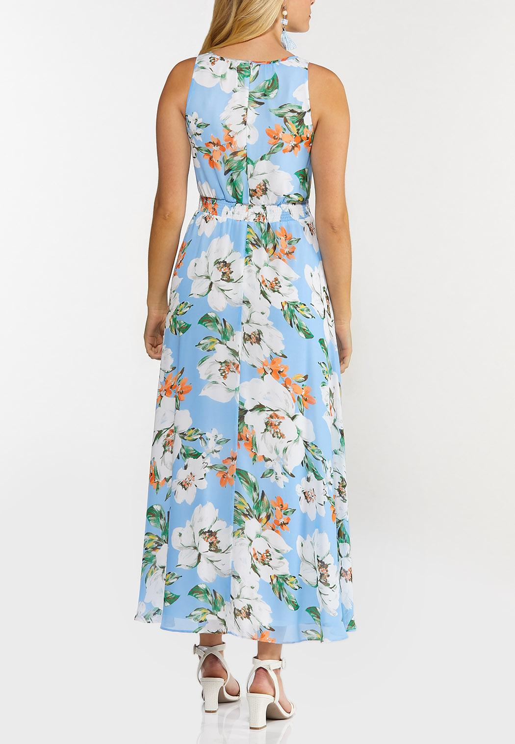 Petite Ruffled Sky Floral Dress (Item #44503840)