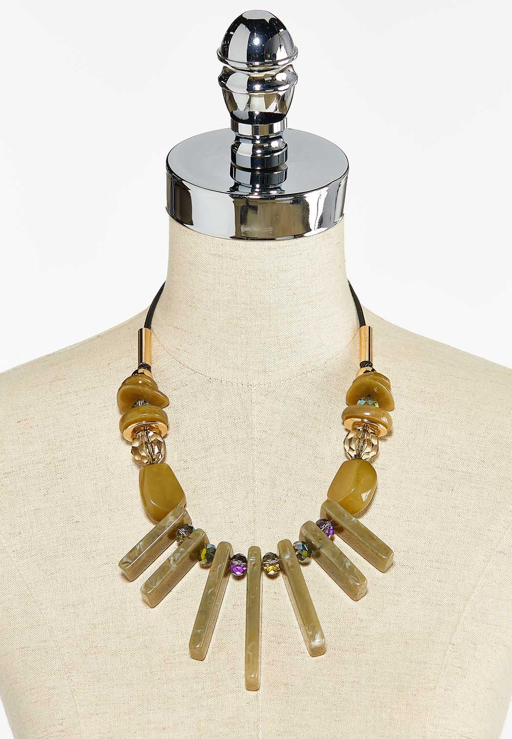 Lucite Bib Necklace (Item #44504266)
