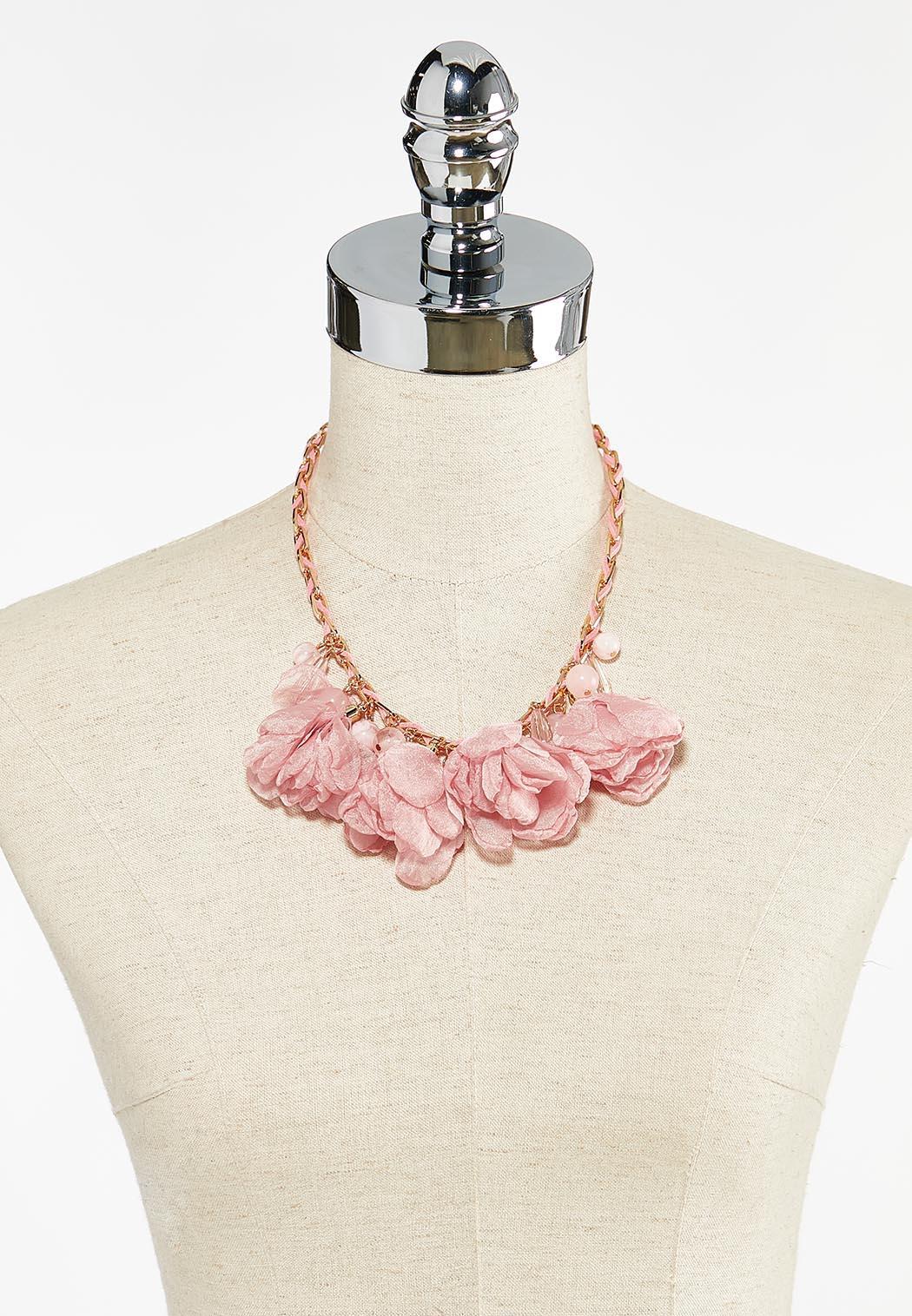 Chiffon Petal Statement Necklace (Item #44504272)