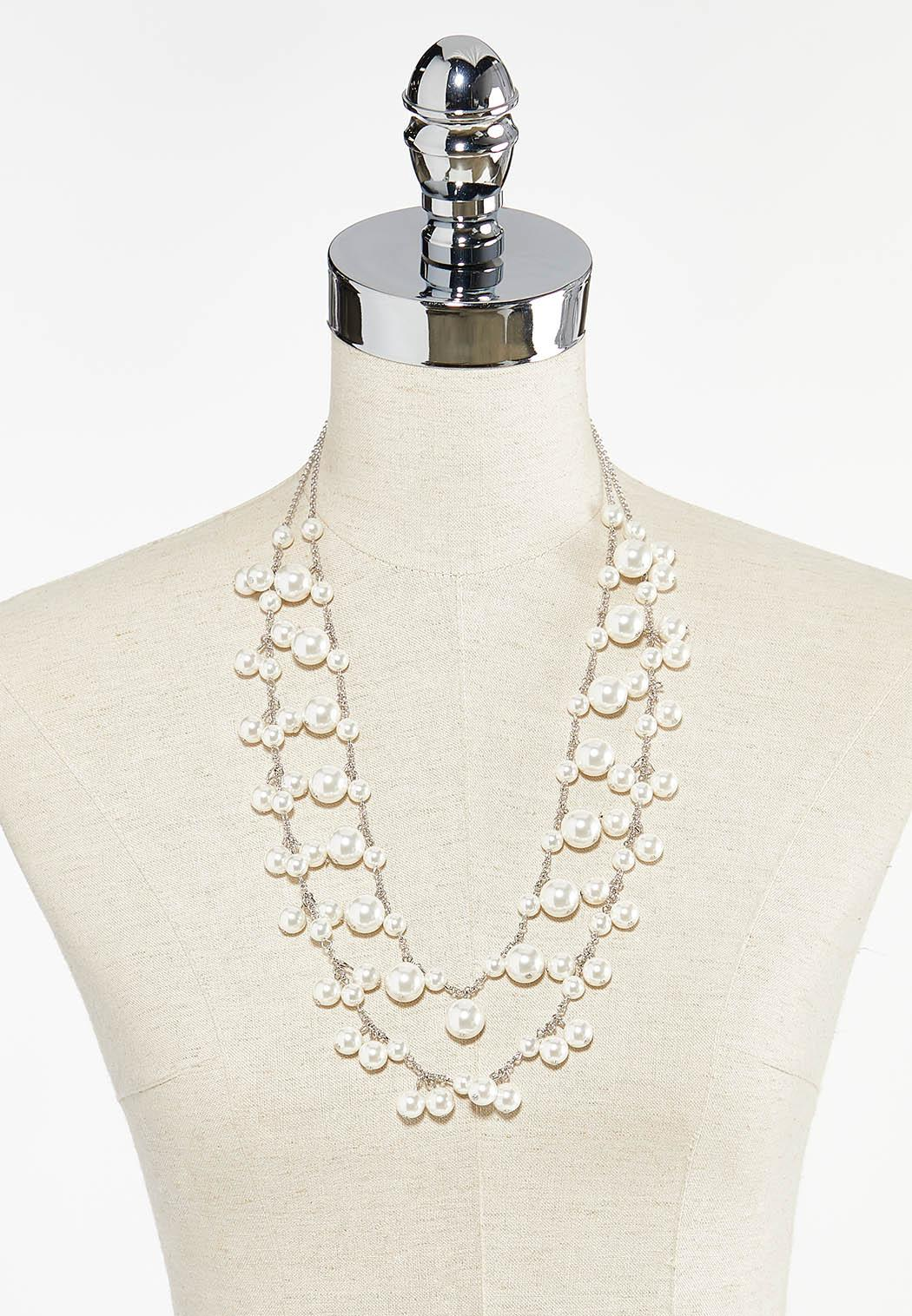 Layered Shaky Pearl Necklace (Item #44505128)