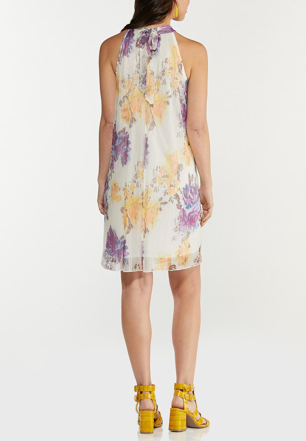Shimmer Floral Pleated Dress (Item #44505889)