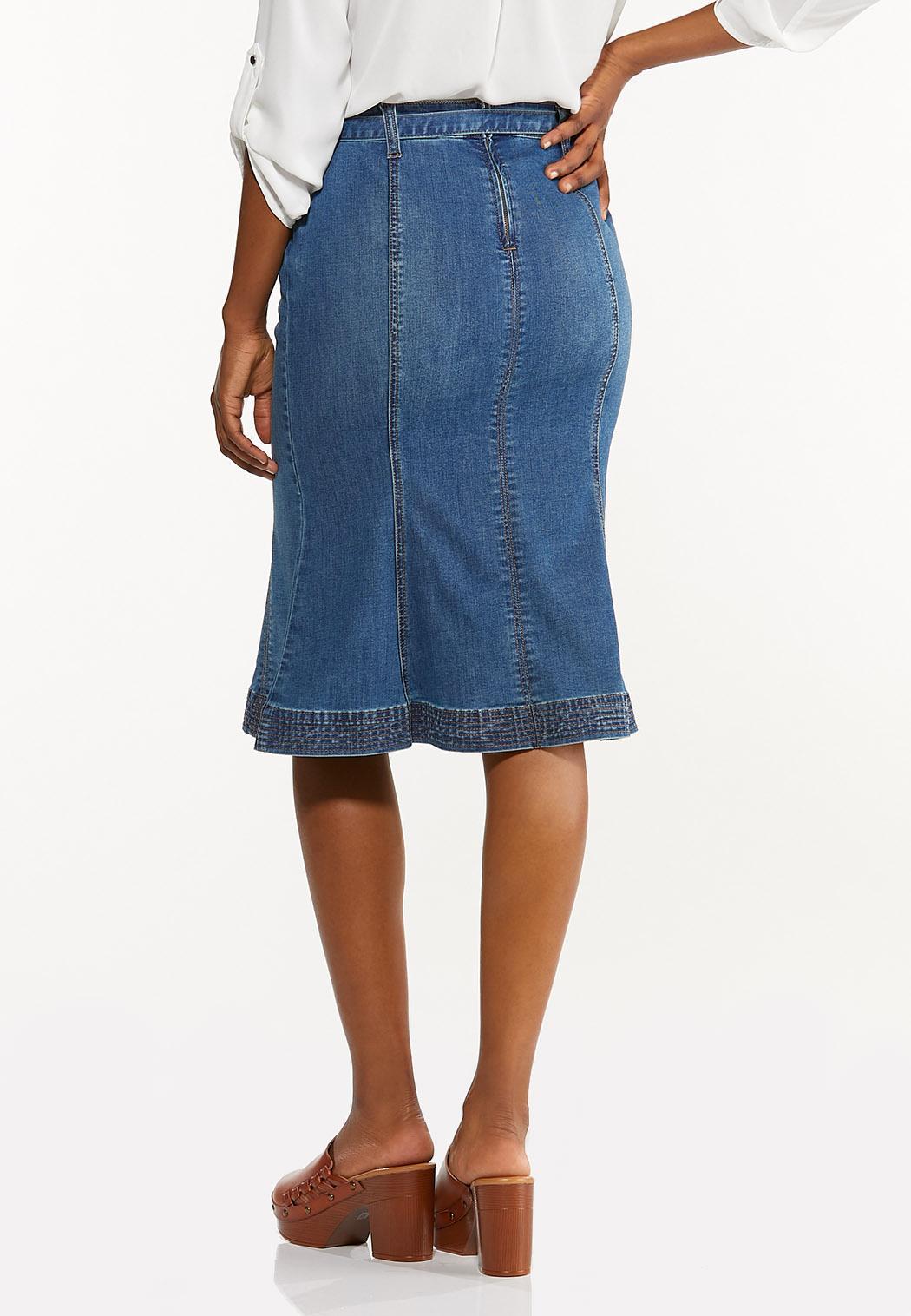 Tulip Denim Skirt (Item #44506354)