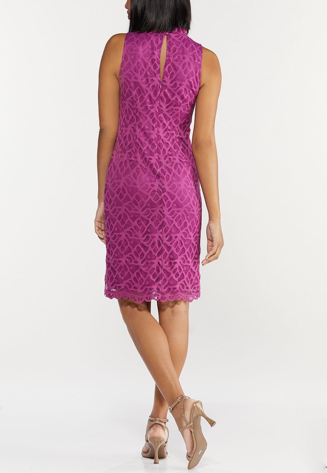 Plus Size Lace Mock Neck Dress (Item #44507651)