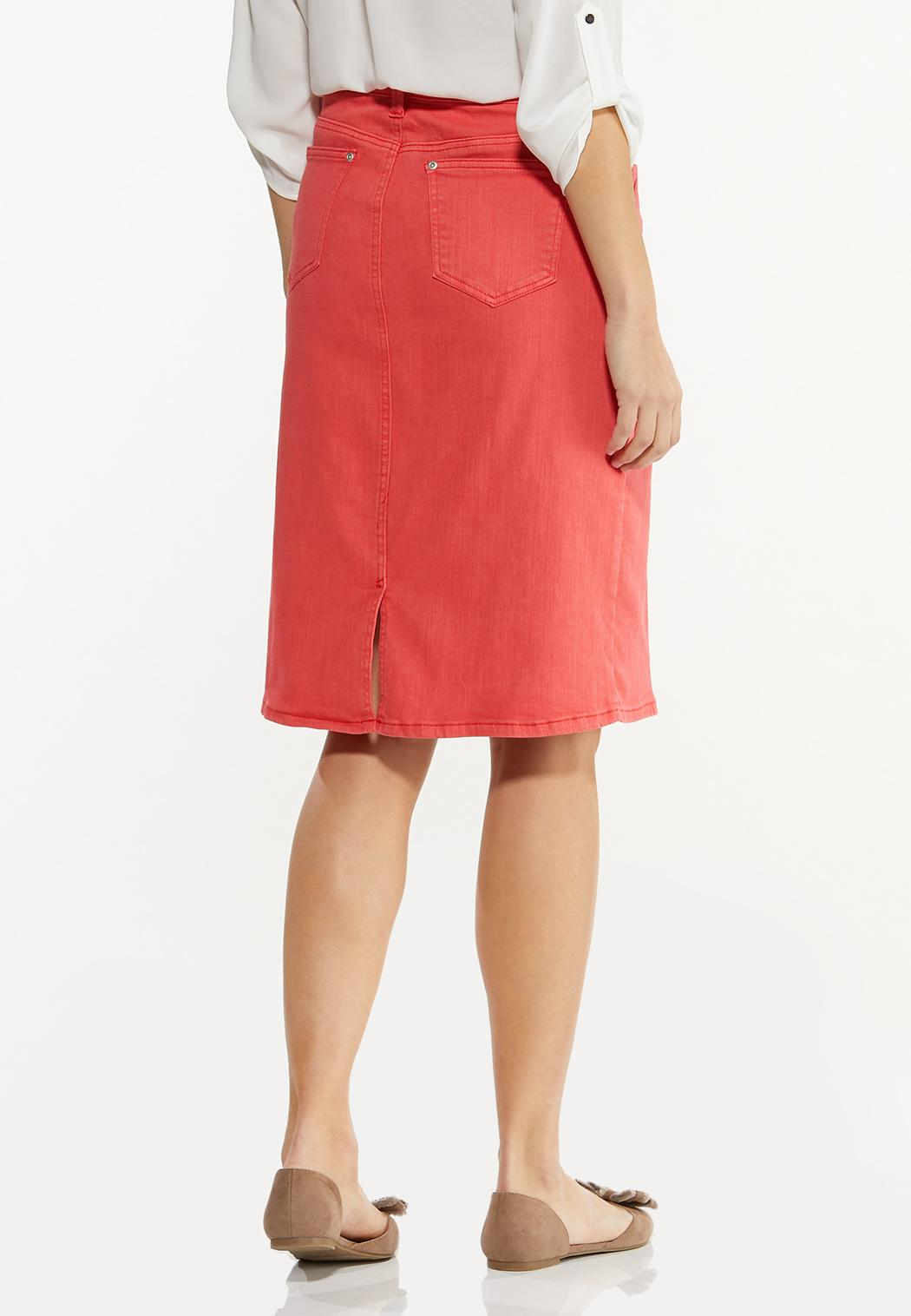 Colored Denim Skirt (Item #44507734)