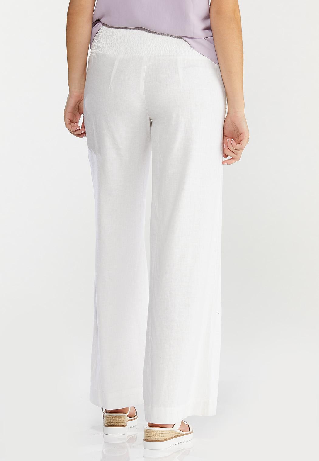 Pull-On Linen Pants (Item #44508328)