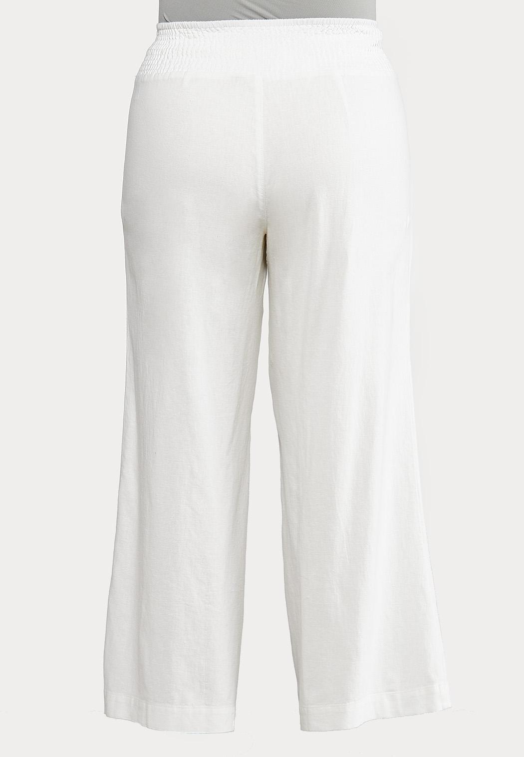 Plus Size Pull-On Linen Pants (Item #44508351)