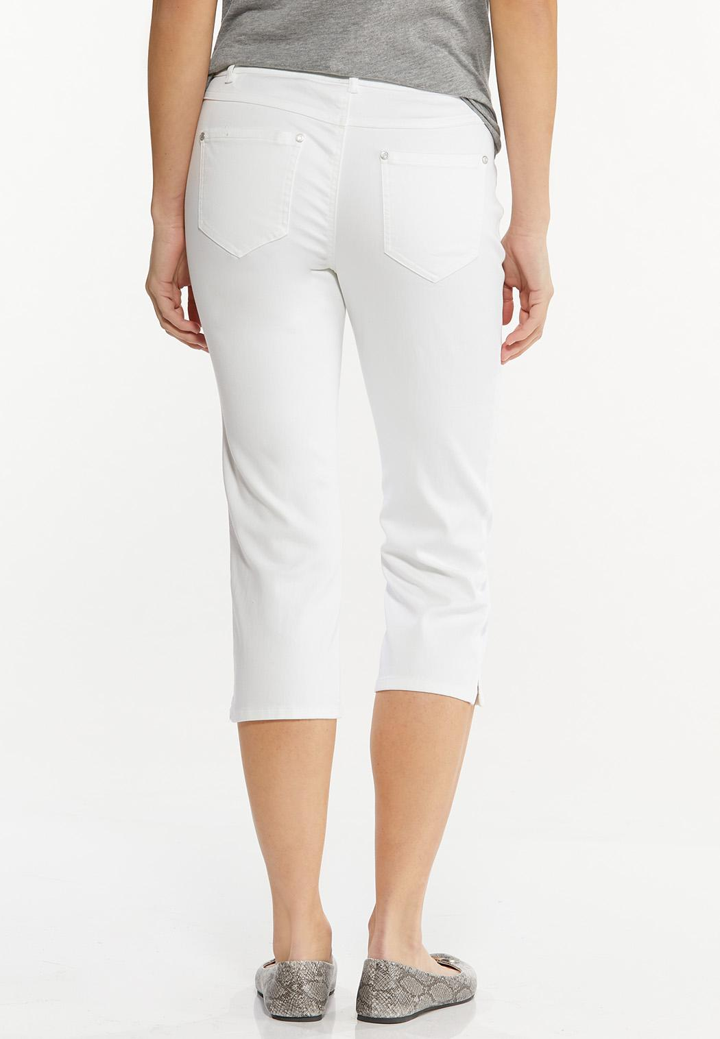 Cropped White Jeans (Item #44508407)