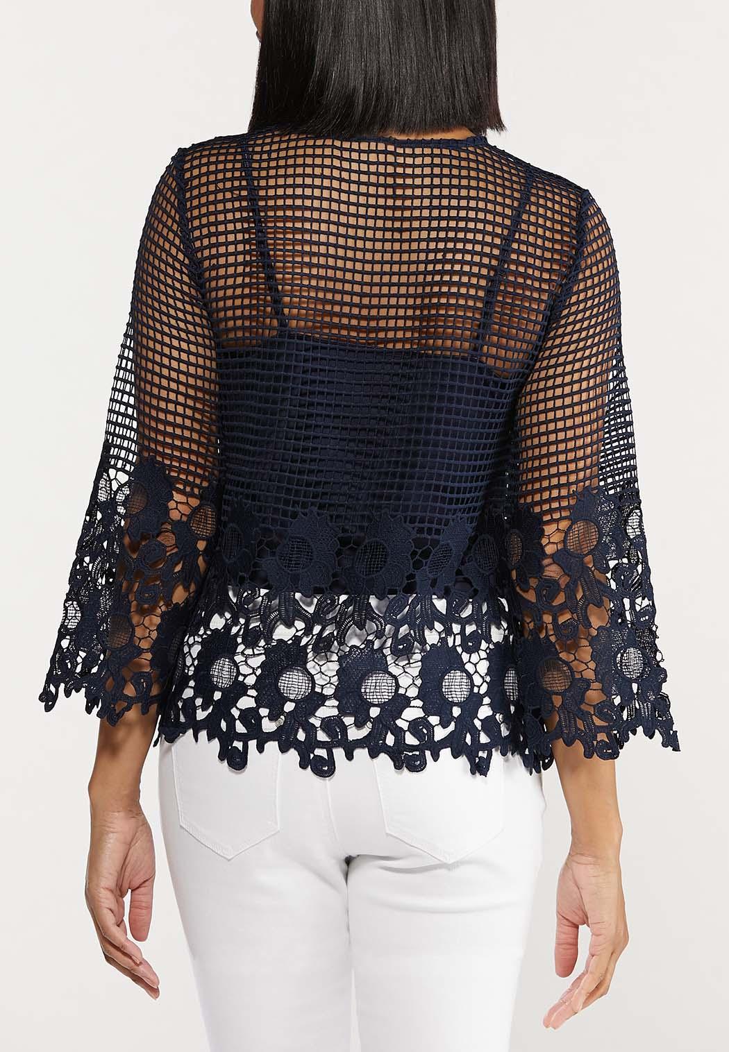 Plus Size Floral Crochet Top (Item #44508635)