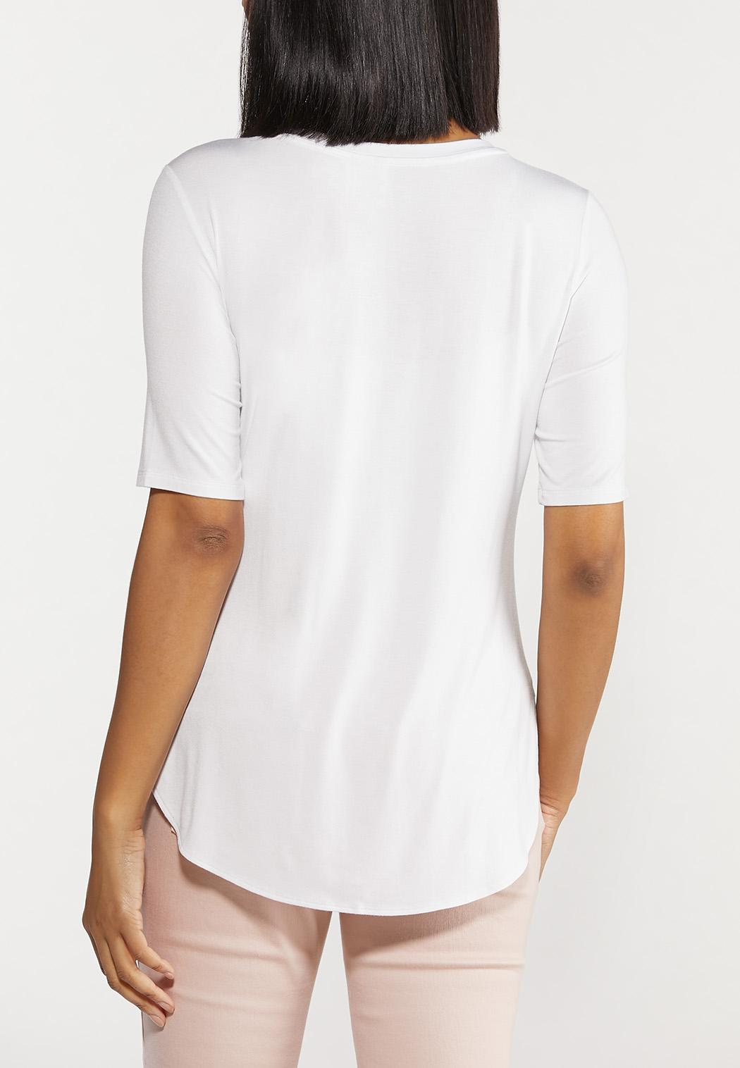 Plus Size Scoop Neck Tee (Item #44509033)