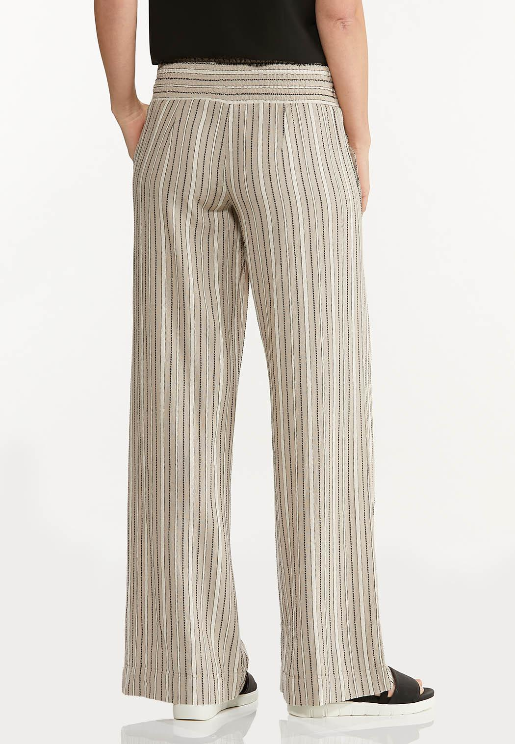 Neutral Stripe Linen Pants (Item #44509375)