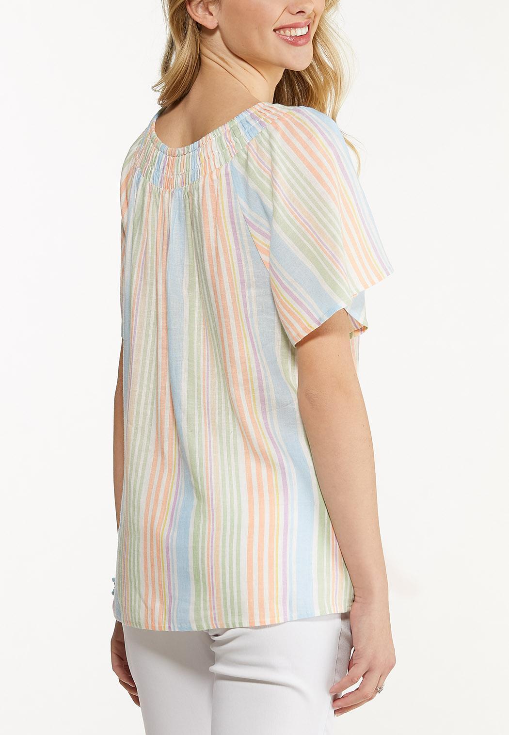 Smocked Pastel Stripe Top (Item #44510274)