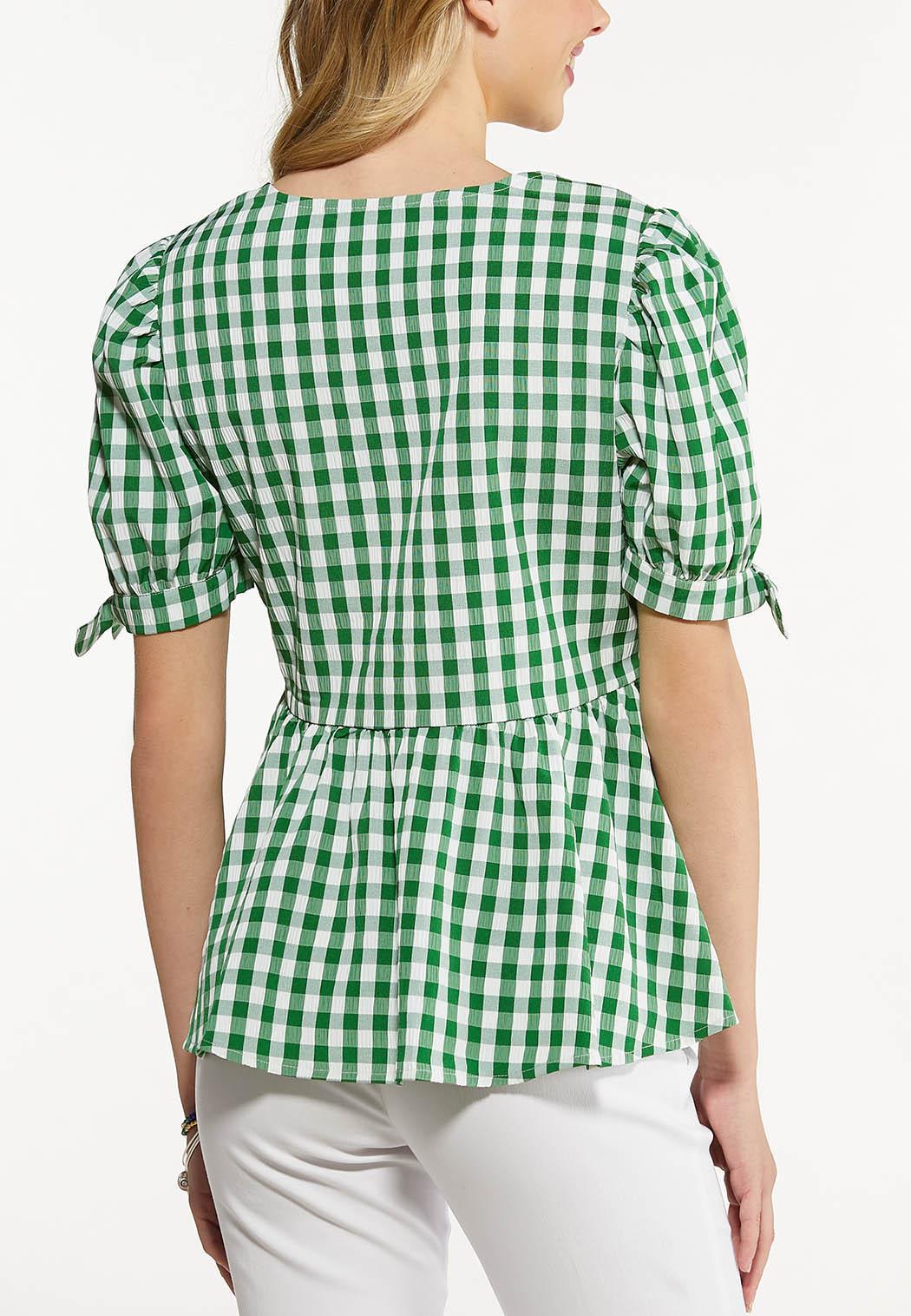 Green Gingham Top (Item #44510790)