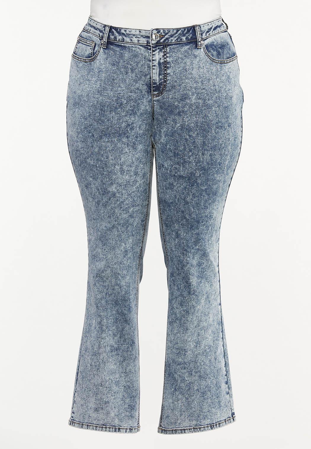 Plus Size Dark Vintage Wash Jeans (Item #44510843)