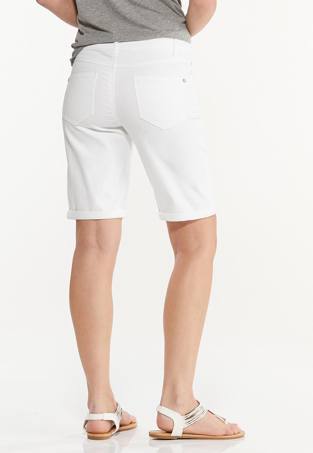 White Denim Bermuda Shorts (Item #44511208)