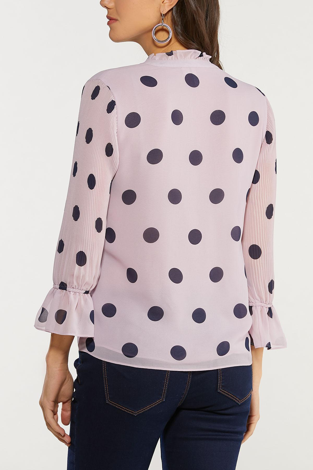 Plus Size Lavender Polka Dot Top (Item #44512004)