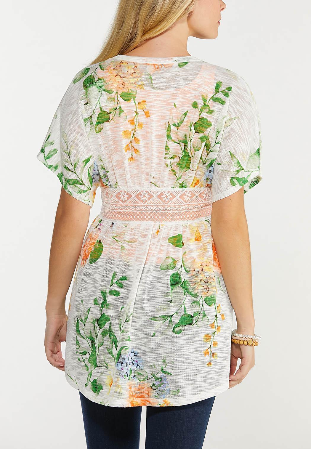 Plus Size Floral Lace Cardigan (Item #44514564)