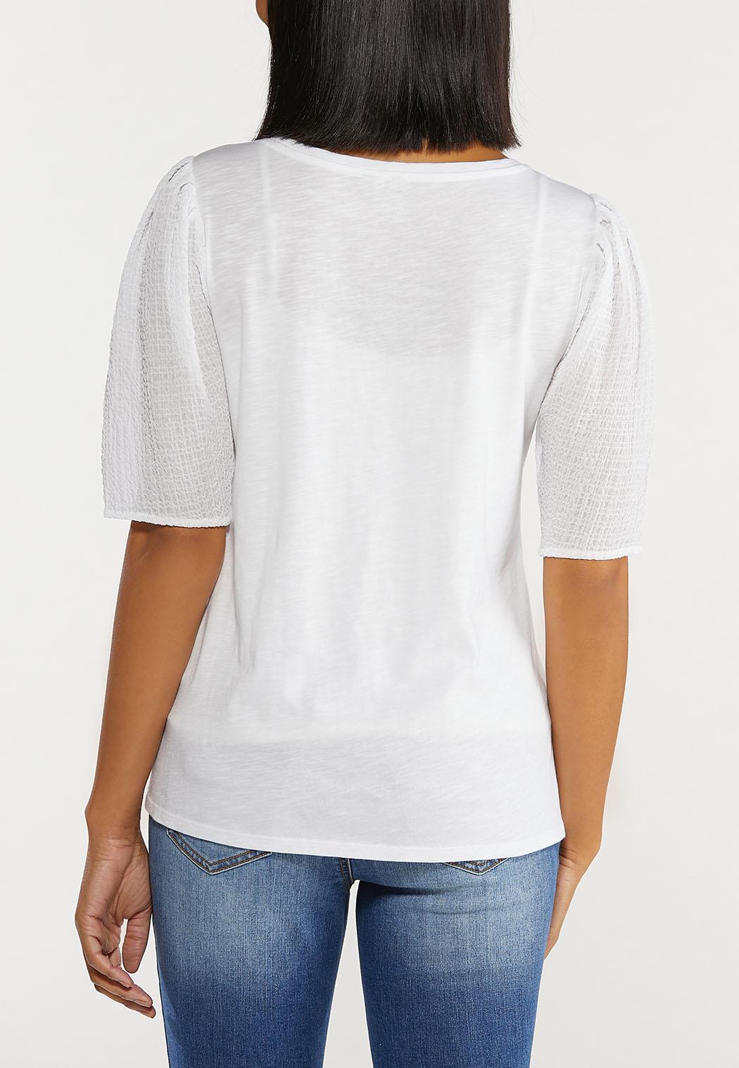 Textured Sleeve Top (Item #44514803)