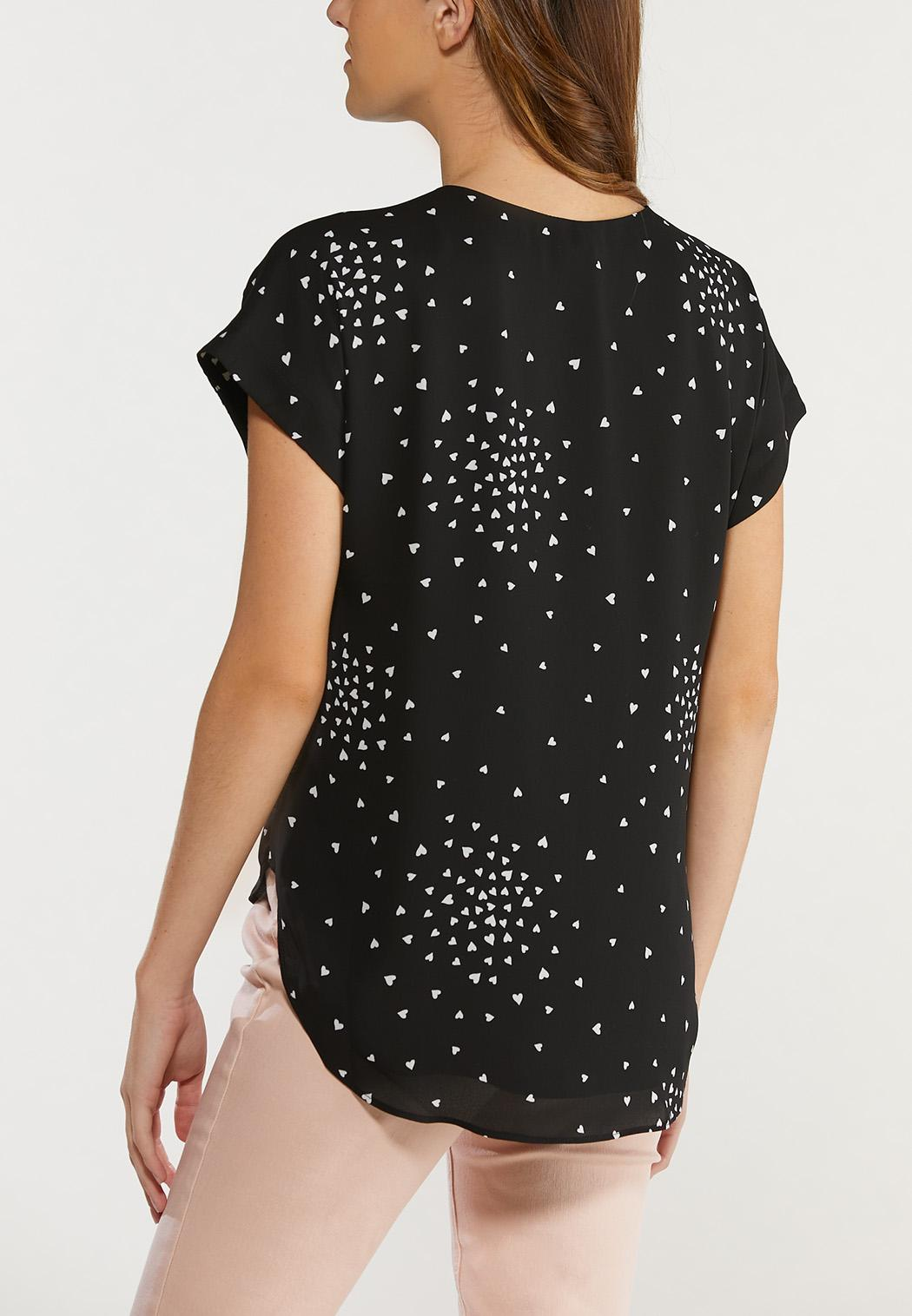 Plus Size Scattered Heart Top (Item #44514976)