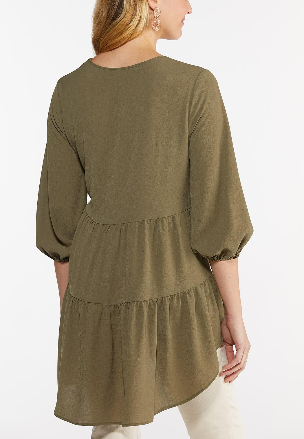 Plus Size Tiered Crepe Tunic (Item #44515727)
