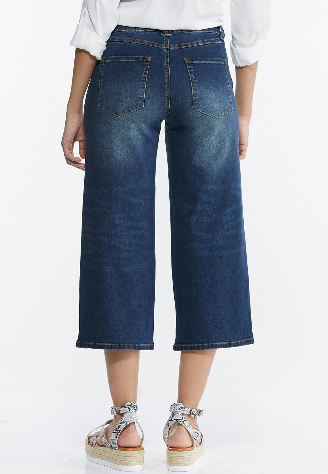 Cropped Belted Jeans (Item #44516315)