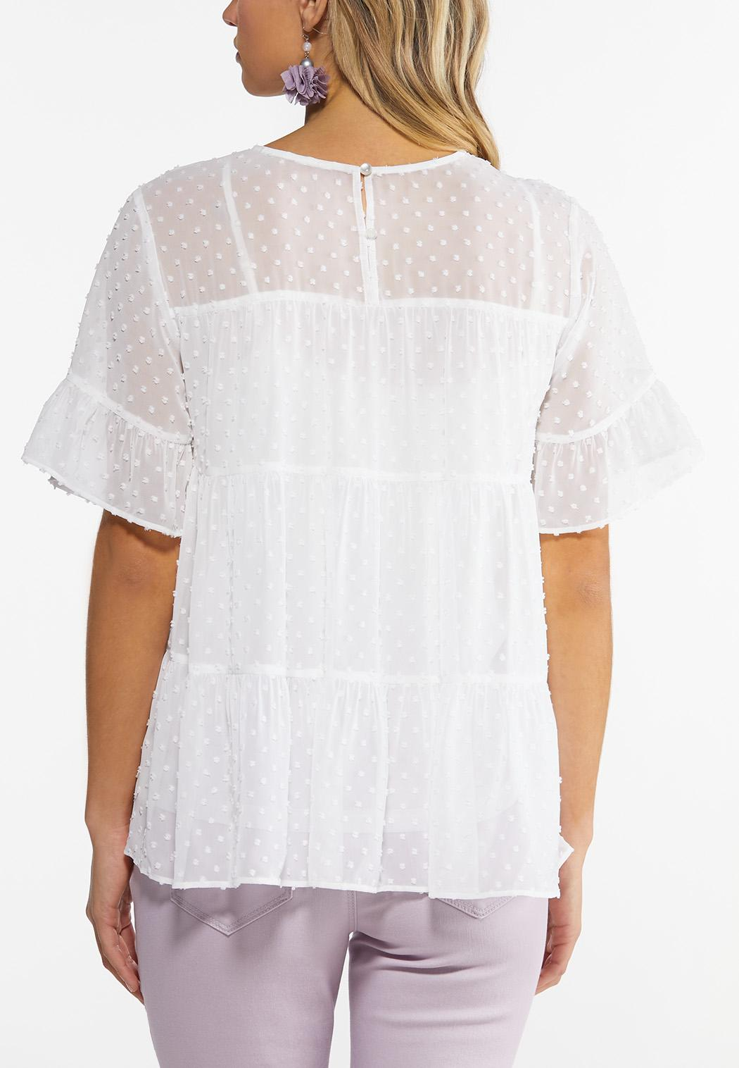 Plus Size Tiered Babydoll Top (Item #44516596)