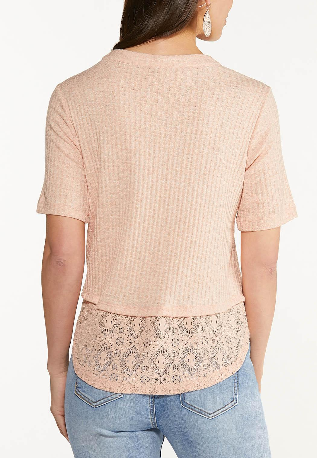 Lace Trim Henley (Item #44517121)