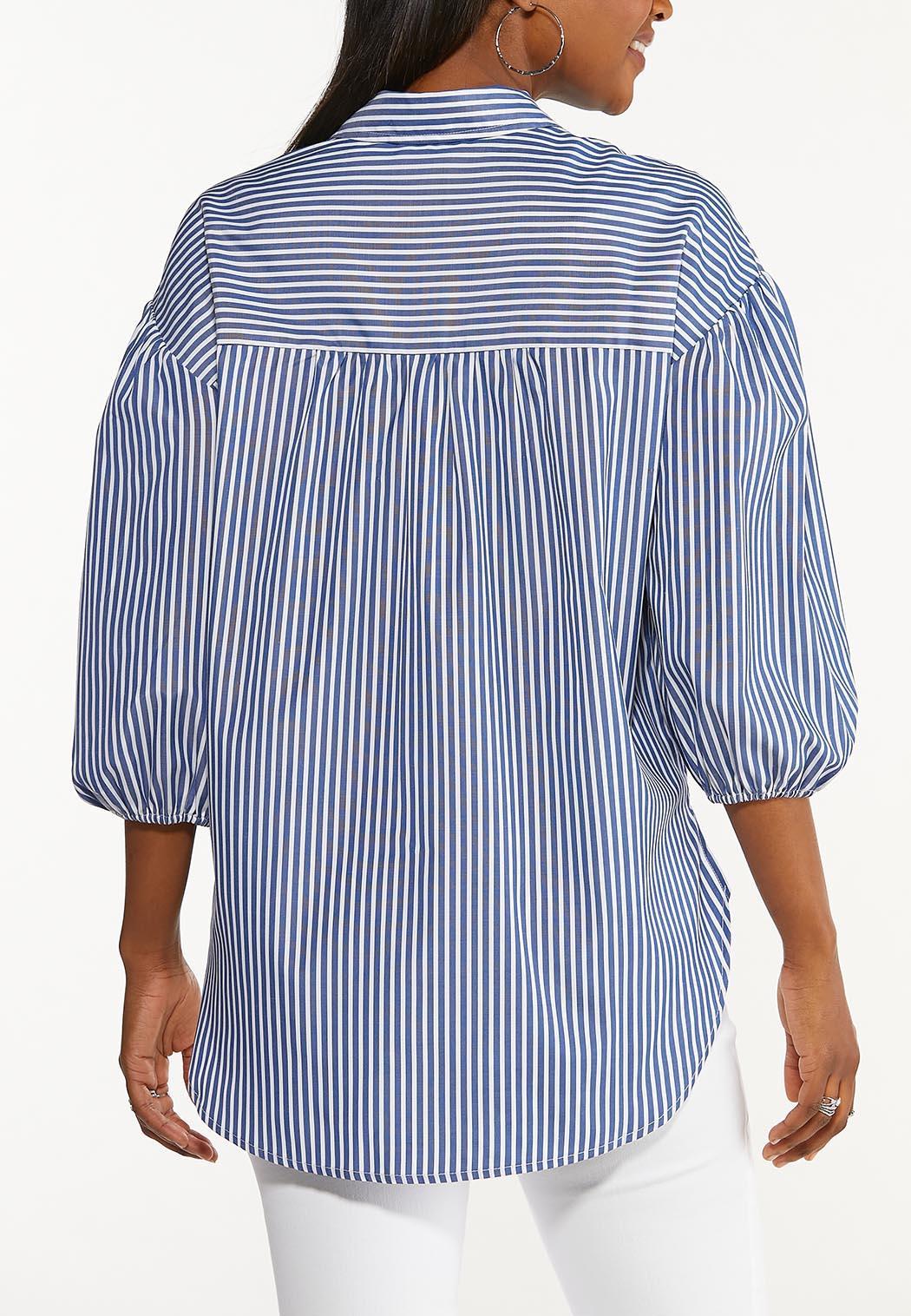 Stripe Puff Sleeve Top (Item #44517561)