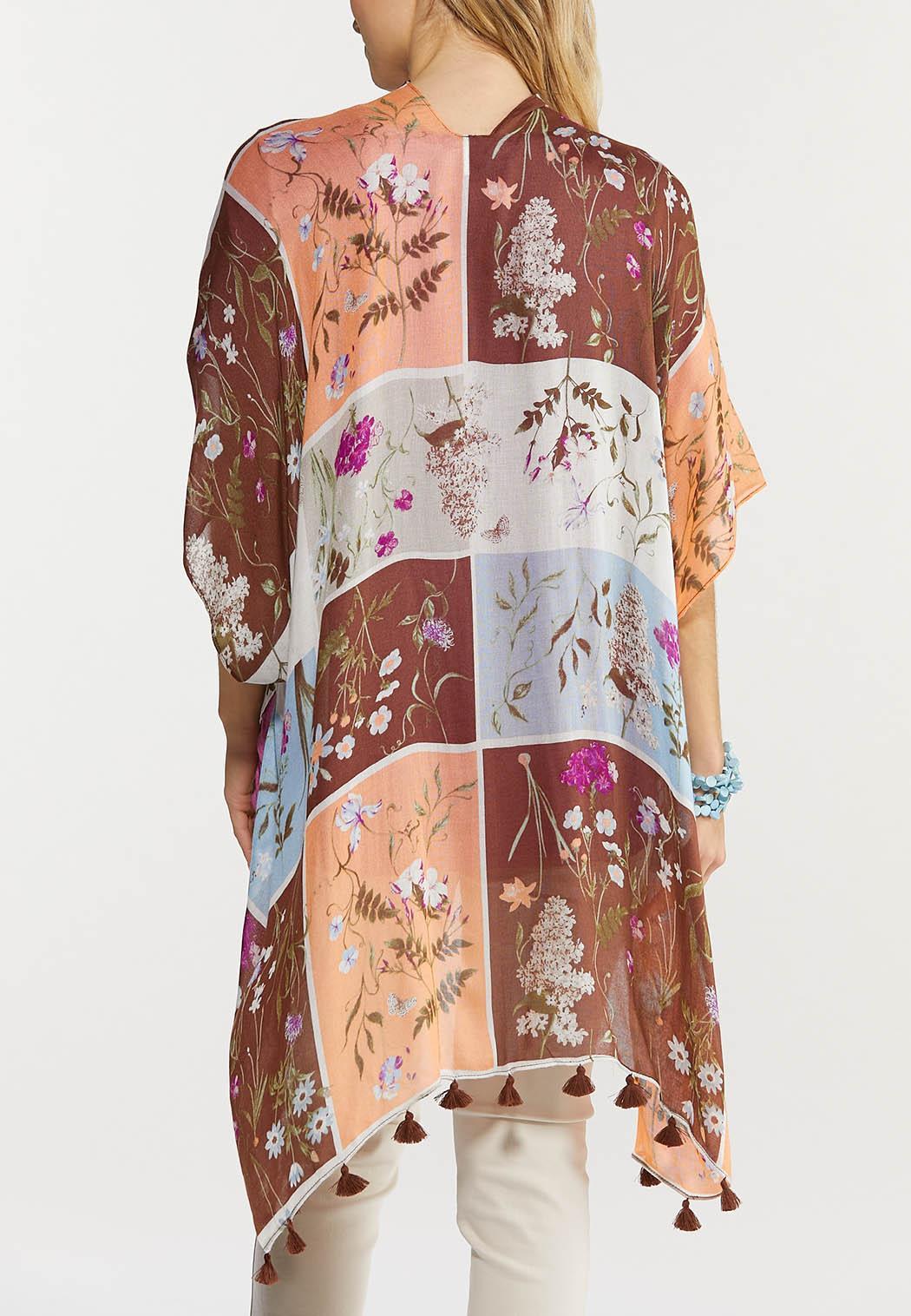 Botanical Tasseled Kimono (Item #44519005)