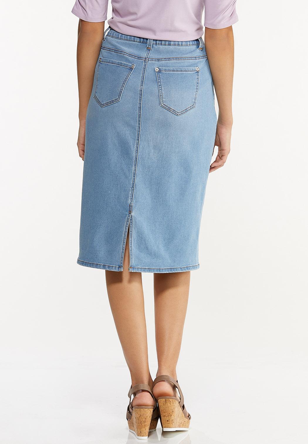 Lightwash Denim Skirt (Item #44519191)
