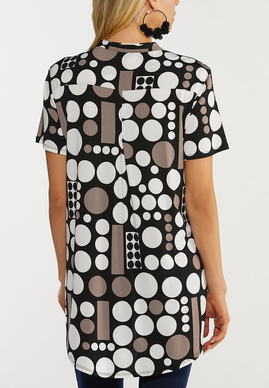 Plus Size Modern Dot Top (Item #44519192)