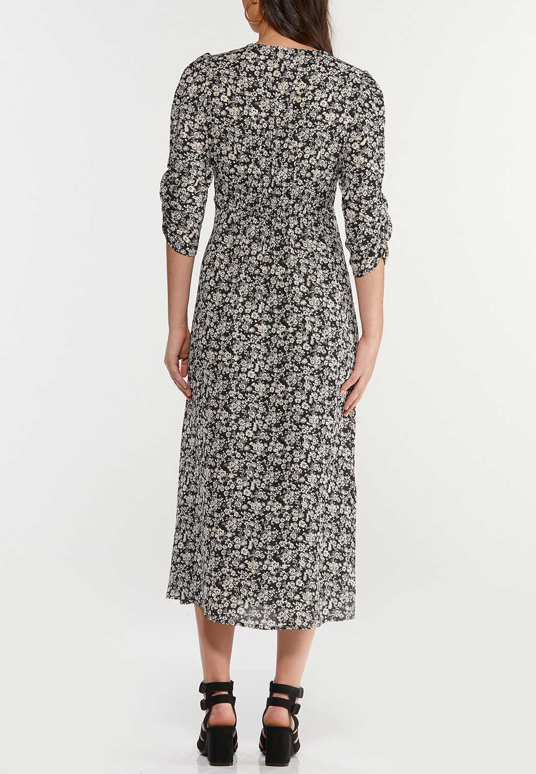 Plus Size Floral Empire Midi Dress (Item #44519339)