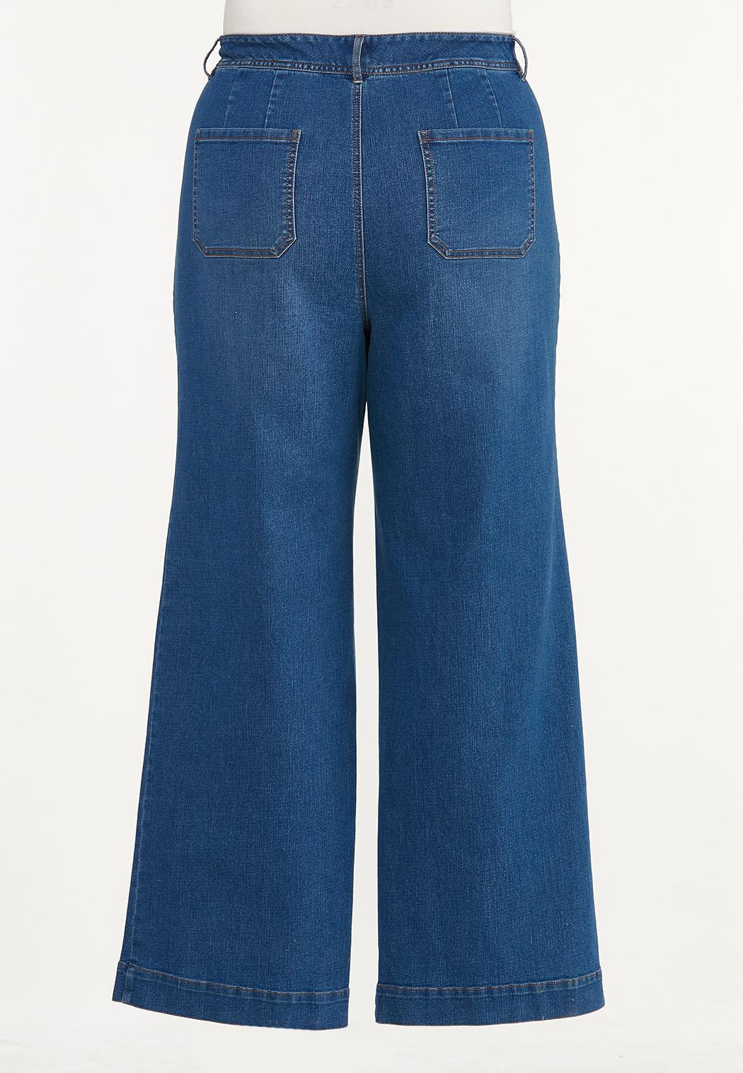 Plus Size Wide Leg Jeans (Item #44519384)