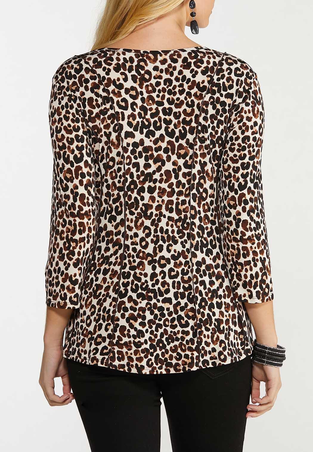 Plus Size Animal Corset Top (Item #44519455)
