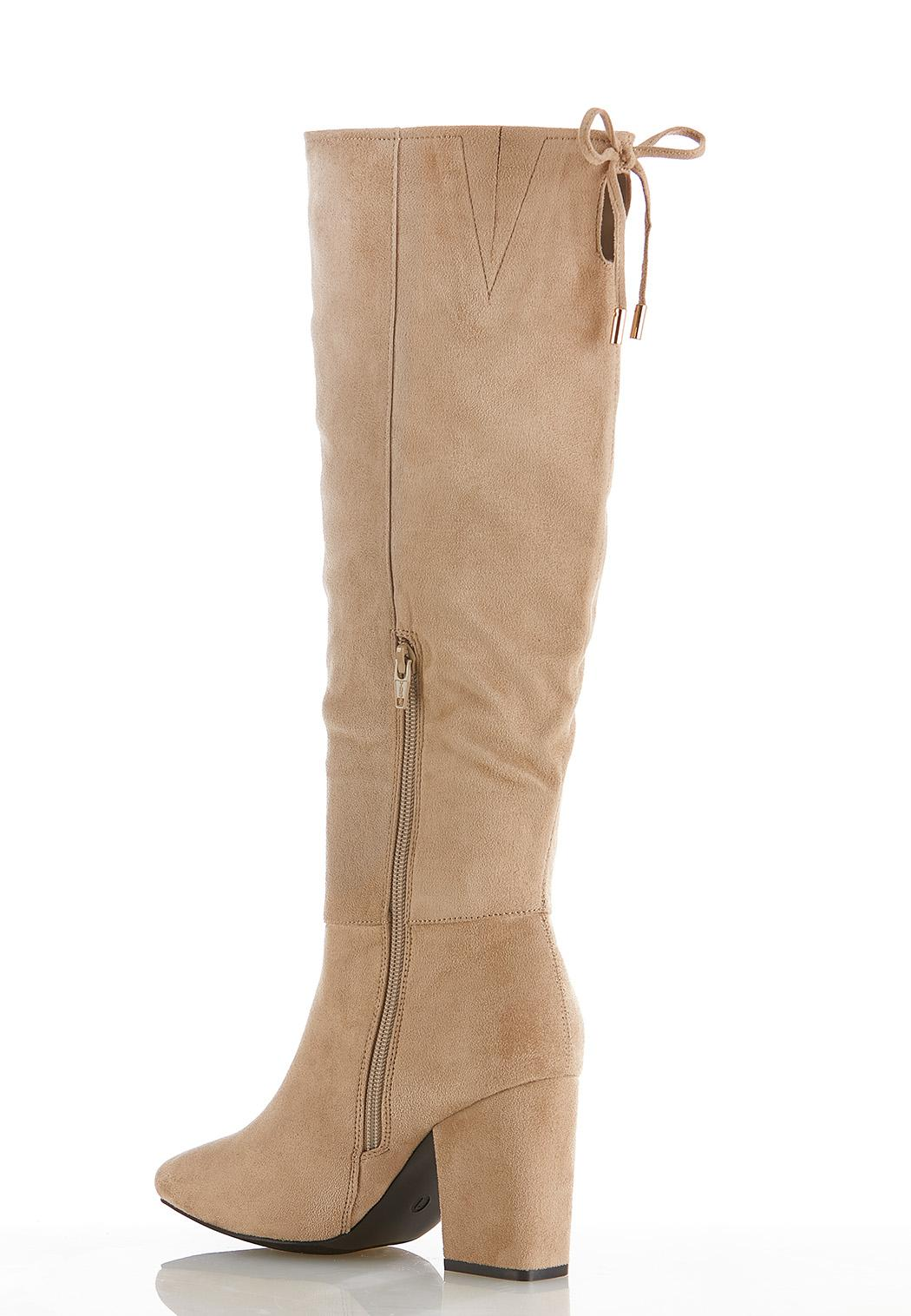 Faux Suede Tall Heeled Boots (Item #44520293)