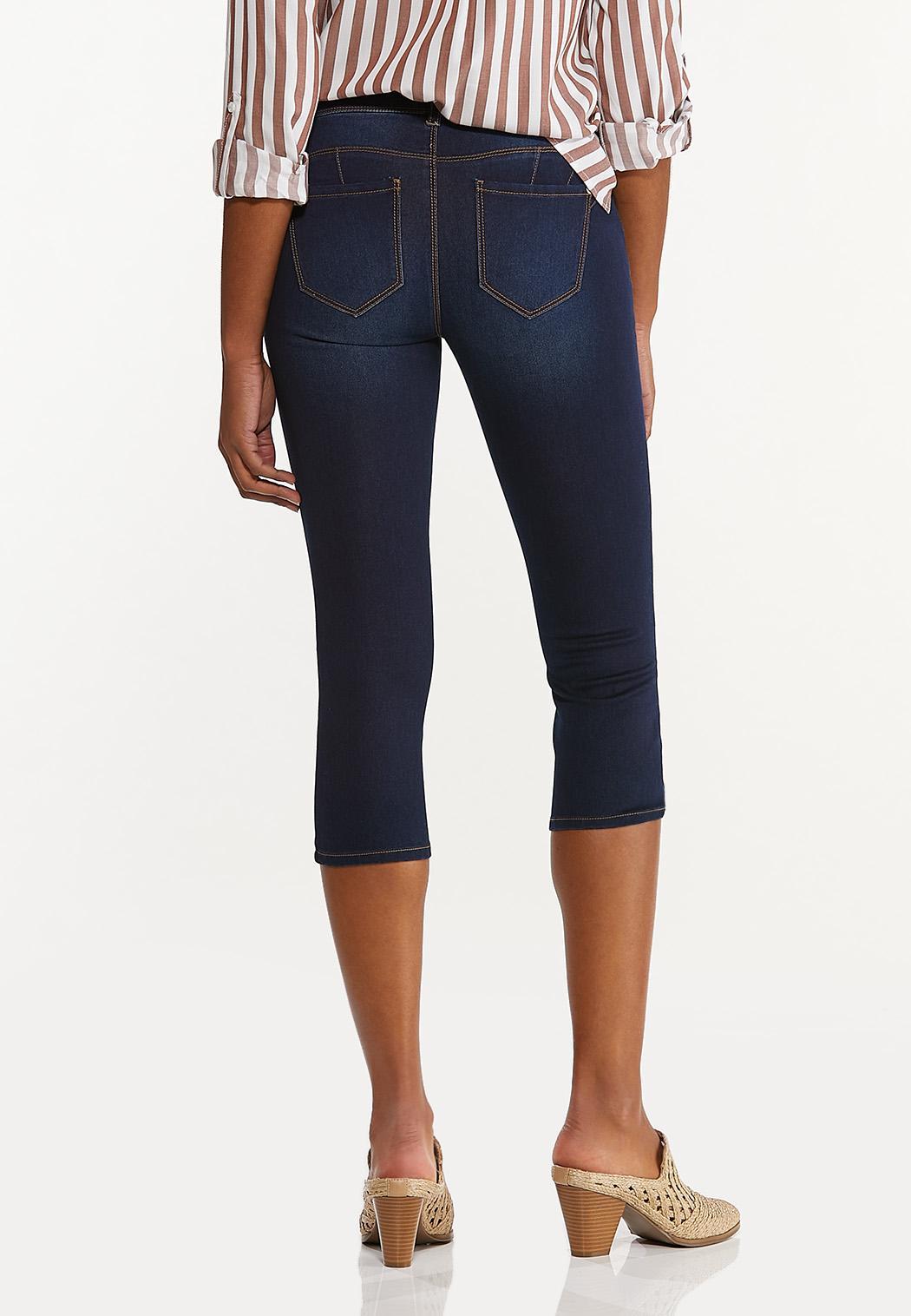 Cropped Dark Wash Jeans (Item #44522028)