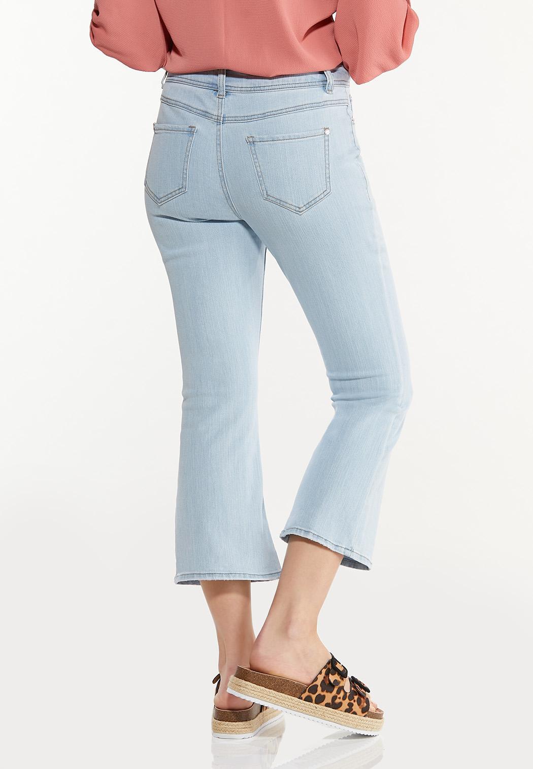 Cropped Lightwash Flare Jeans (Item #44522273)