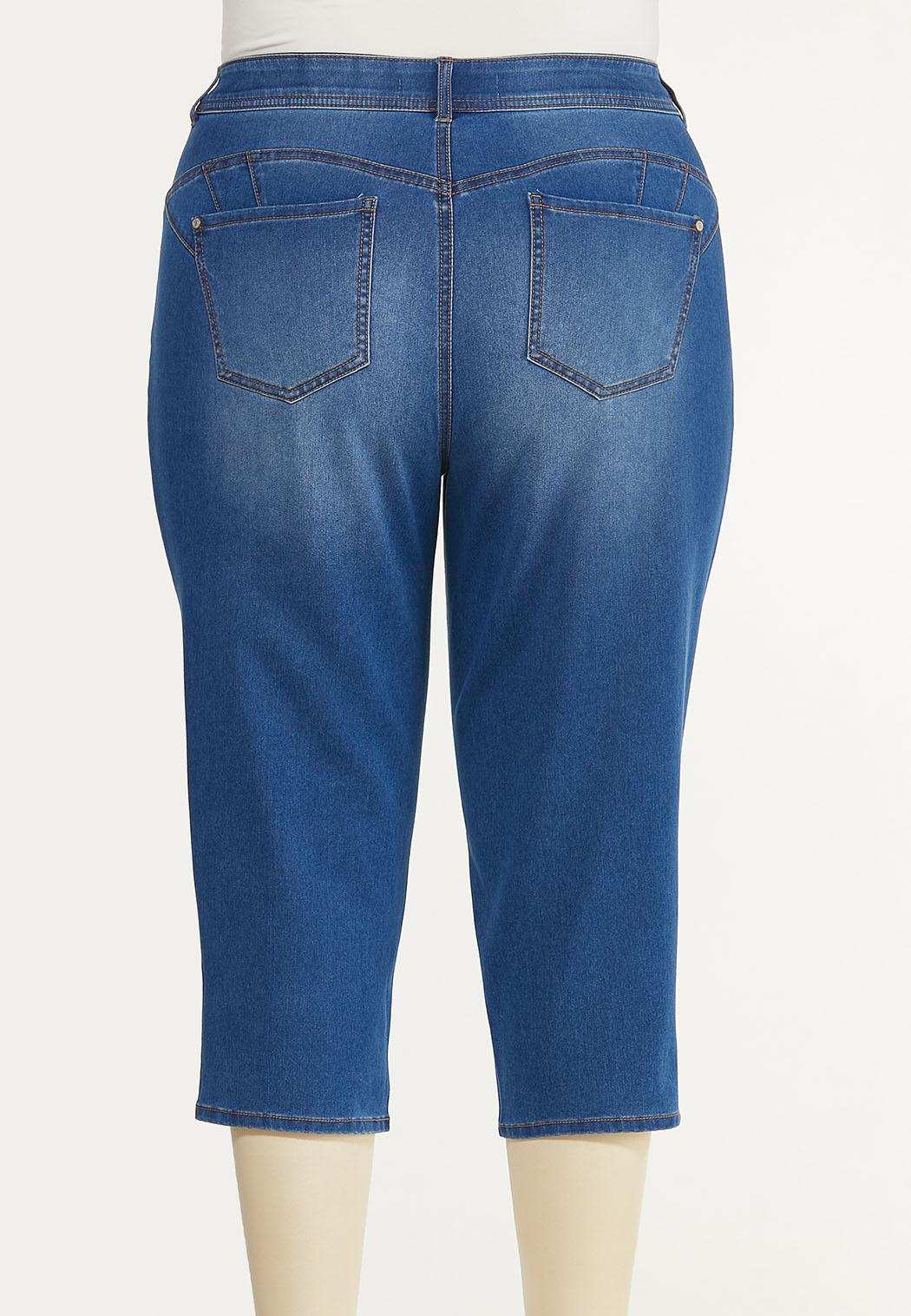 Plus Size Perfect Cropped Jeans (Item #44522493)