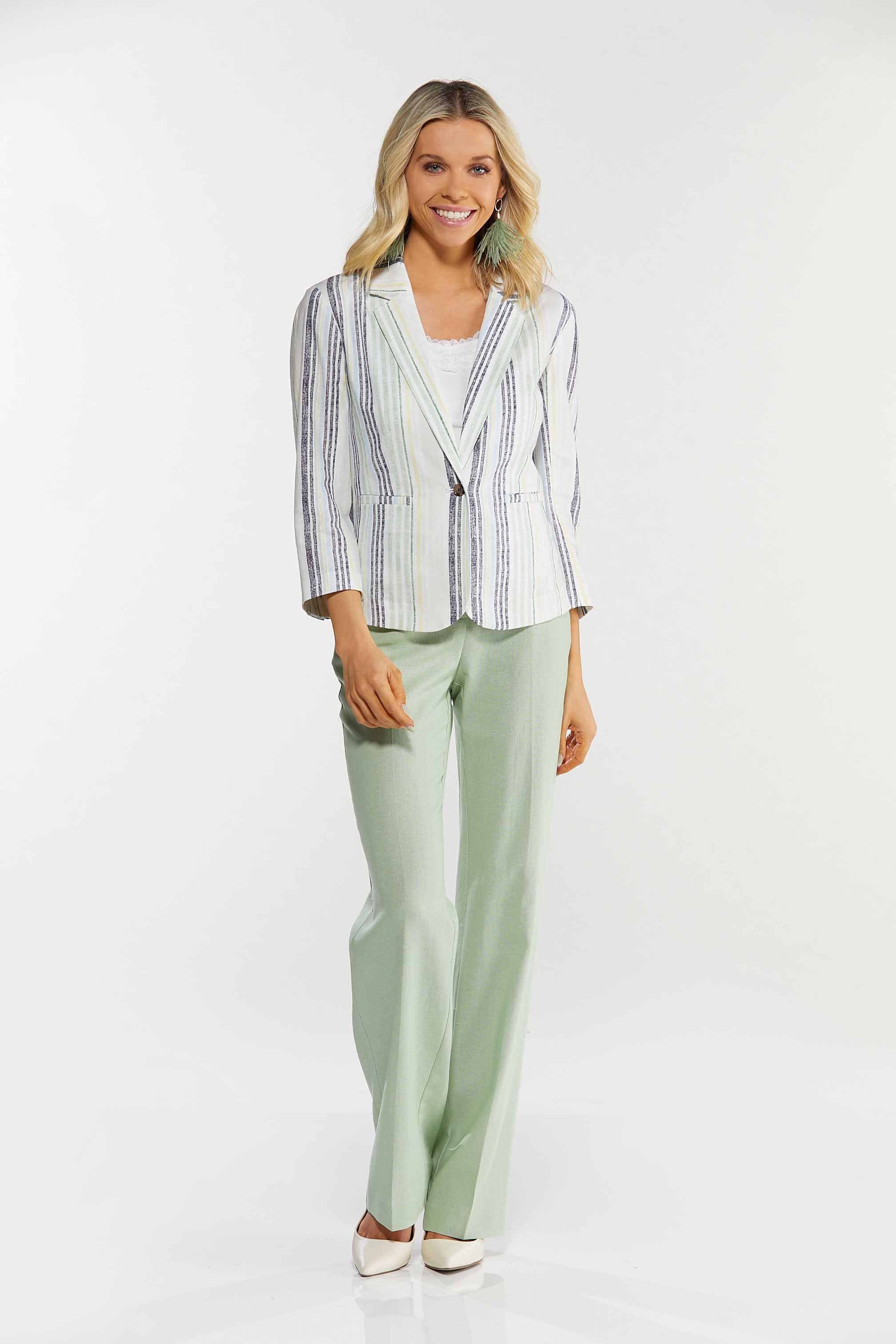 Muted Stripe Linen Blazer (Item #44523069)